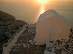 Chapel in Sikinos island, Greece Planet Earth 2, Sunrises, Greek Islands, Greece, Tourism, Destinations, Bucket, Sea, Future