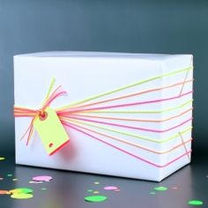Add some Neon Fun to your summer gifts with 3 Great Wrapping ideas!