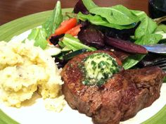 Filet Mignon with Dairy Free Garlic Herb Butter (Gluten Free, Dairy Free)