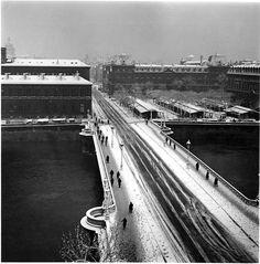 Pont Notre-Dame en hiver 1940