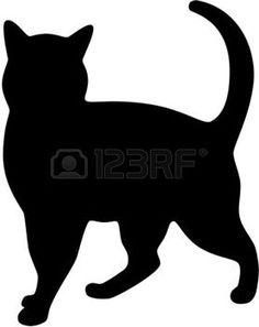 silhouette chat: Silhouette de chat noir Illustration