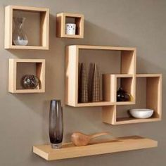 Wall Shelf Design Pictures 223635 - Woodworking Plans and Projects! Home Decor Hooks, Wall Shelf Decor, Cute Room Decor, Wall Shelves Design, Unique Home Decor, 3d Wanddekor, Home Room Design, Floating Shelves, Living Room Decor
