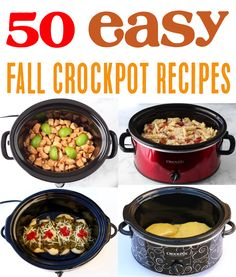 Easy Crockpot Recipes for Fall! These 50 easy and delicious appetizers, dinners, breakfasts, drinks, and desserts are the perfect additions to your menu. Go give some a try this week! Delicious Crockpot Recipes, Delicious Appetizers, Crockpot Dishes, Easy Appetizer Recipes, Slow Cooker Recipes, Crockpot Sausage And Potatoes, Crockpot Chicken And Dumplings, Yami Yami, Crockpot Hot Chocolate