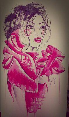 #art #design #illustration #watercolor #woman #brasilidade #estamparia #pattern #cores #drawing #fashiondrawing  instagram:@rubianareolon