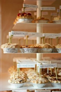 mini wedding pies (by tara guerard soiree via emmaline bride)