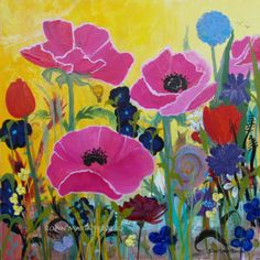 Pink Poppies and Time Traveler Note Cards