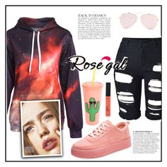 """""""ROSEGAL"""" by elly-852 ❤ liked on Polyvore featuring Anja, Sunnylife, shoes, shorts, hoodie and rosegal"""