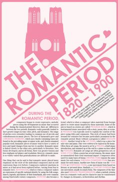Music History - The Romantic Period Infographic