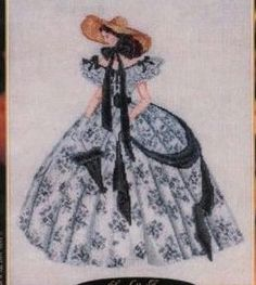 cross stitch scarlet o'Hara gone with the wind