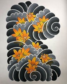 Tattoo Japanese Style, Japanese Dragon Tattoos, Traditional Japanese Tattoos, Japanese Tattoo Designs, Japanese Sleeve Tattoos, Japan Tattoo Design, Koi Tattoo Design, Flower Tattoo Designs, Daruma Doll Tattoo