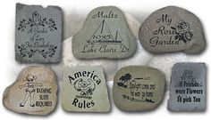 Custom Engraved River Stones, Garden Markers & Unique Pond Stones at Stone Carve Creation