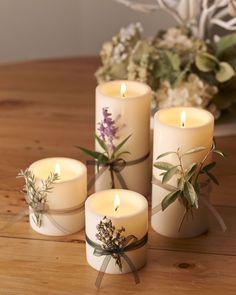 Diy Candles, Pillar Candles, Wedding Decorations, Christmas Decorations, Table Decorations, Wedding Table, Our Wedding, Sage Green Wedding, Candle Favors