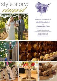 style story: vineyard wedding