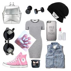 """PINKSTAR"" by a-fleur on Polyvore featuring mode, Dorothy Perkins, Abercrombie & Fitch, Converse, Kin by John Lewis, Vans, Kate Spade, HoneyBee Gardens en Bare Escentuals"
