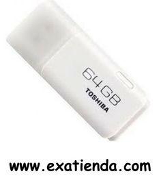 Ya disponible Memoria USB 2.0 Toshiba 64gb    (por sólo 41.89 € IVA incluído):   -Capacidad: 64GB -Interface: USB 2.0 -Velocidad lectura:17MB/s -Velocidad escritura: 7MB/s -Otros:--   -P/N:THNU64HAY / BL5 Garantía de 24 meses.  http://www.exabyteinformatica.com/tienda/2211-memoria-usb-2-0-toshiba-64gb #memoria #exabyteinformatica