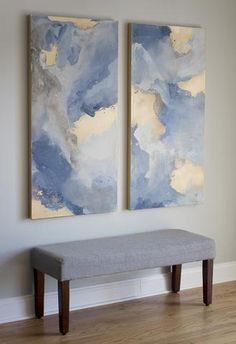 Fall into Light – Original Artwork Set - Painting Media Modern Art, Contemporary Art, Painting Edges, Painting Techniques, Painting Inspiration, Original Artwork, Original Paintings, Wall Art, Art Paintings