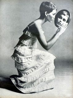 Mia Farrow by Richard Avedon for Vogue, 1960s.