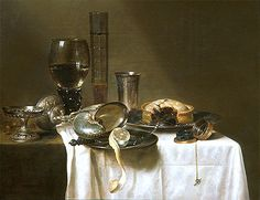 Title: Still Life with Nautilus Cup, 1641 Artist: Willem Claesz Heda Medium: Hand-Painted Art Reproduction