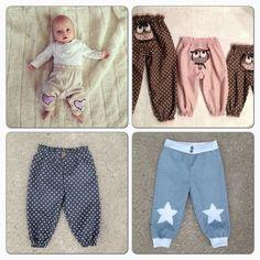 Dette er mønsteret på bukse, ut i fra denne kan du lage forskjellige mod. Sewing Kids Clothes, Knitted Baby Clothes, Cute Baby Clothes, Sewing For Kids, Baby Sewing, Diy Clothes, Baby Outfits, Kids Outfits, Baby Barn