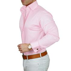 We have expanding our signature high collar double button dress shirts! Now softer than ever and in more colors. Collar always stays up! Formal Men Outfit, Casual Outfits, Men Casual, High Collar Shirts, Men Dress, Shirt Dress, Mens Pink Dress Shirt, Classy Men, Classy Style