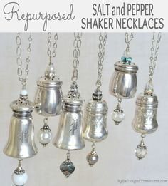 Repurposed Salt and Pepper Shaker Necklaces MySalvagedTreasures.com
