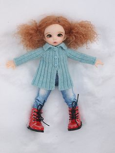 Ravelry: Queen Street Jacket for Littlefee Dolls pattern by Kristin Maw