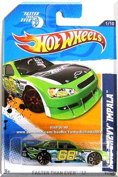 Hot Wheels - 2010 Chevy Impala: Faster Than Ever - *Green* Weird Cars, Cool Cars, Toy Cars For Kids, Bike Poster, Hot Wheels Cars, Toy Trucks, Chevrolet Impala, Car Humor, Custom Trucks