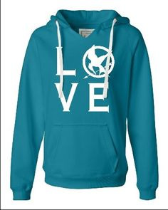 Ladies Turqberry I Love The Hunger Games Deluxe Soft Fashion Hooded Sweatshirt Hoodie