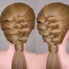 Press ▶ Knotty braid hair tutorial.  Full slow version on my youtube channel (youtube.com/cinthiatruong)  Song: Nova [Ahrix]  #cinthiatruong