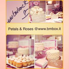 Petals & Roses @ www.bmbox.it #bitemebox #bmbox #follow #partytime #kids #birthday #party #pink #sweettable #order #rose #theme #bambini #festa #homedelivery #compleanno #tag