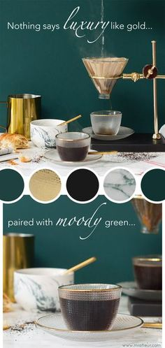 Green interiors are all the rage this season, and nothing says grown up glamour like green walls paired with gold accessories and touches of marble. This striking colour palette has a very luxurious feel and is perfect for an on trend kitchen.