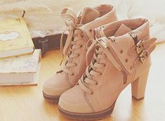 shoes boots pastel pink