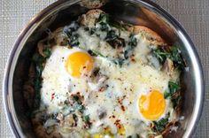 Mushroom Gruyere Baked Eggs   Always Late to Trends