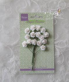 15+Paper+Flowers+-+Roses,+white+++RB2244+von+Zeit+für+Kreatives+auf+DaWanda.com