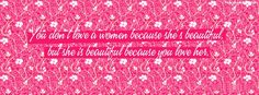 Get our best She Is Beautiful Because You Love Her facebook covers for you to use on your facebook profile. If you are looking for HD high quality She Is Beautiful Because You Love Her fb covers, look no further we update our She Is Beautiful Because You Love Her Facebook Google Plus Tumblr Twitter covers daily! We love She Is Beautiful Because You Love Her fb covers!