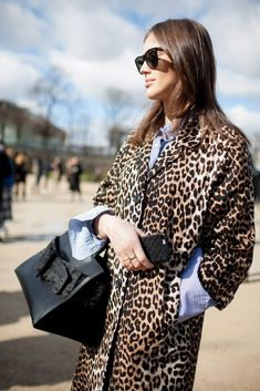 Leopard print and stripes; the eye-catching combination that shouldn't work but does. When putting the items together opt for neutral accessories to break up the prints.
