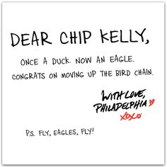 Welcome Chip Kelly, the new head coach of the #Philadelphia #Eagles!