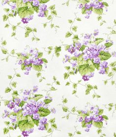 Waverly Sweet Violets Violet Fabric