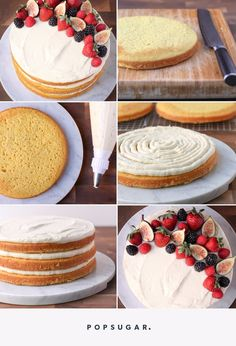Wedding Cake Recipes Everything You Need to Know to Decorate a Stunning Naked Cake - There's no doubt about it, naked cakes are having a moment. Baking and decorating one of these beauties might seem like a daunting project, but we'll let you Easy Vanilla Cake Recipe, Chocolate Cake Recipe Easy, Easy Cake Recipes, Food Cakes, Cupcake Cakes, Nake Cake, Simply Yummy, Easy Cake Decorating, Rustic Cake