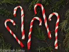 How to Make Candy Canes - Step by Step Photo Tutorial: Your Candy Canes are Finished!