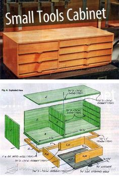 Small Tools Cabinet Plans - Workshop Solutions Plans, Tips and Tricks | WoodArchivist.com #woodworkingbench
