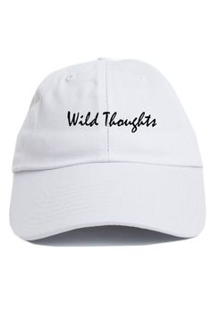 088de0c9b6c Wild Thoughts Custom Unstructured Hat Adjustable Baseball Cap New Free  Shipping - White