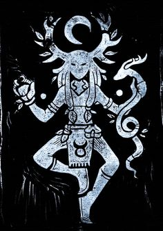 Cernunnos by Rituhell on DeviantArt Druid Tattoo, Symbole Viking, Bild Tattoos, Pagan Art, Celtic Mythology, Viking Art, Viking Woman, Celtic Art, Gods And Goddesses