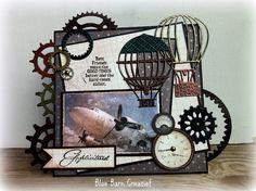 Blue Barn Creatief: Stoere Industrial Mannenkaart