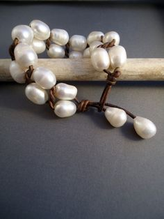 DIY Jewelry Inspiration. Freshwater Pearls and Leather