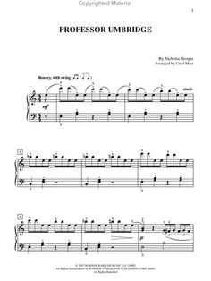 Professor Umbridge sheet music.