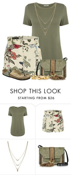 """""""Floral Printed Shorts"""" by superstylist ❤ liked on Polyvore featuring Oasis, Gucci, Jessica Simpson, L'Autre Chose, Birkenstock and Michael Kors"""