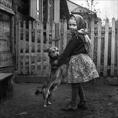 Alexander Kustov - Waltz (Devochka and her dog)  Krasnoyarsk, Siberia, Russia (Soviet Union), 1973  ©Alexander Kustov