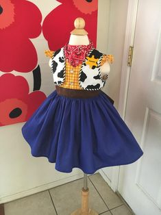 Custom Made to Order Toy Story Woody inspired dress Sz to Jesse Toy Story Costume, Toy Story Halloween Costume, Toy Story Costumes, Halloween Costumes For Kids, Jessie Costumes, Peter Pan Costumes, Toy Story Party, Toy Story Birthday, Fantasias Toy Story
