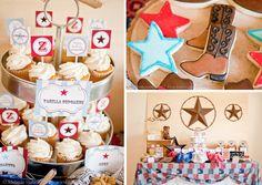 Cowboy Western 3rd Birthday Party via Kara's Party Ideas - www.KarasPartyIdeas.com
